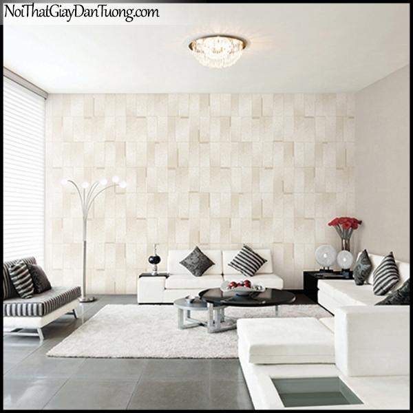 STAY, Giấy dán tường Hàn Quốc 420-2a PC, Giấy dán tường 3D giả gạch, gân nhỏ, màu vàng cát, phối cảnh