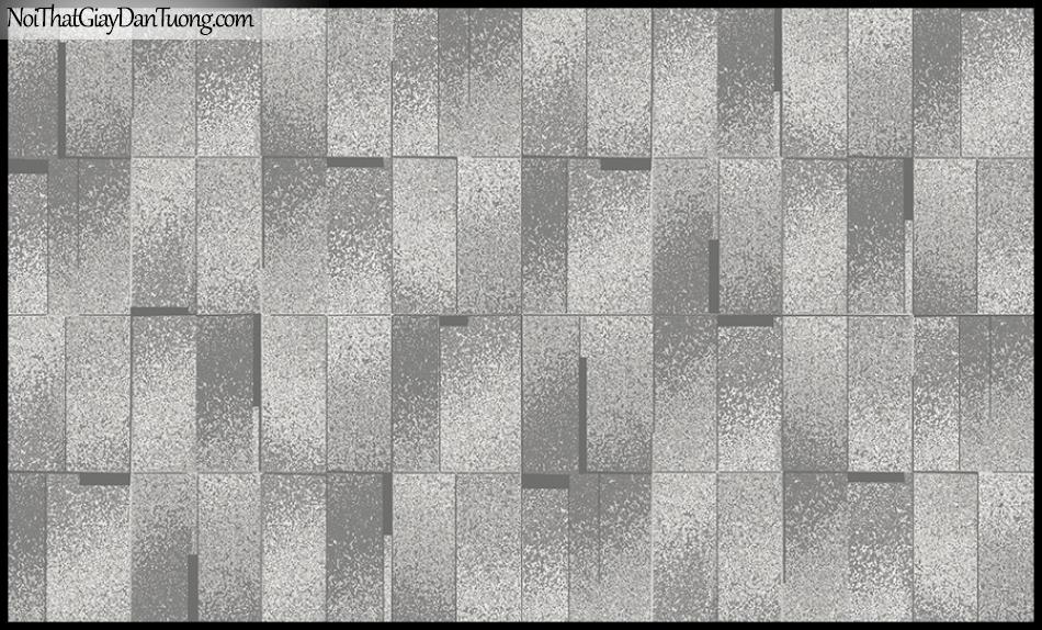 STAY, Giấy dán tường Hàn Quốc 420-4, Giấy dán tường 3D giả gạch, gân nhỏ, màu nâu đen