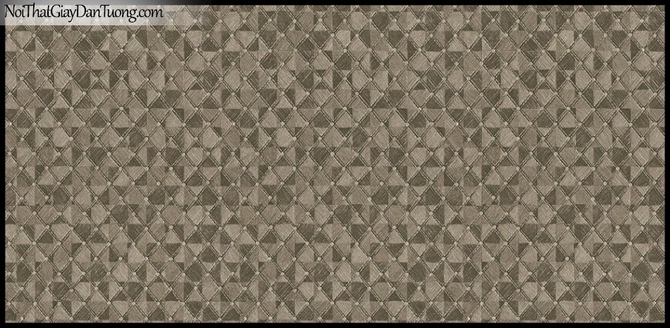 STAY, Giấy dán tường Hàn Quốc 426-2, Giấy dán tường 3D giả gạch, giả đá, vân nhỏ, màu nâu xám