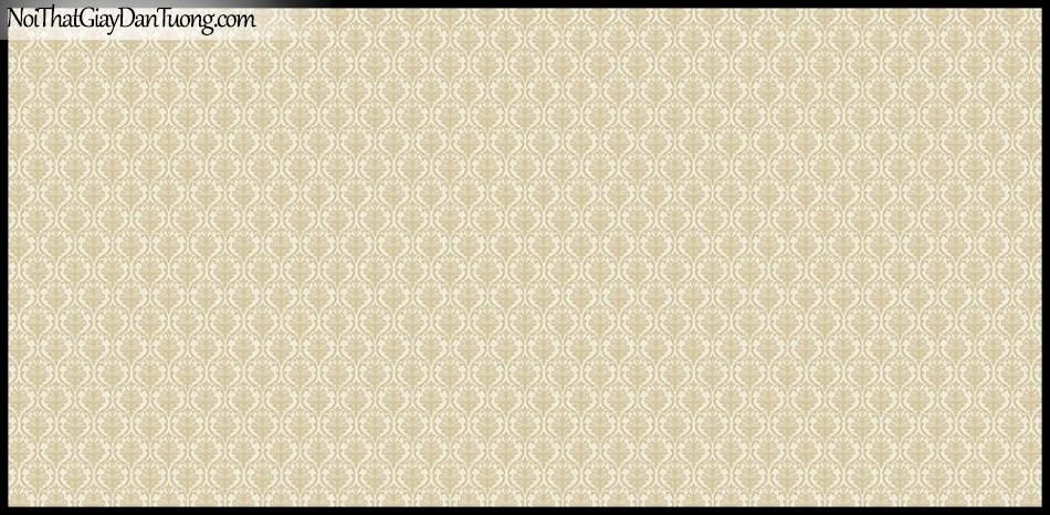 STAY, Giấy dán tường Hàn Quốc 428-2, Giấy dán tường 3D giả gạch, họa tiết hoa văn Châu Âu cổ điển, màu vàng kem