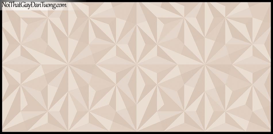 STAY, Giấy dán tường Hàn Quốc 429-3, Giấy dán tường 3D giả gạch, họa tiết hoa văn Châu Âu cổ điển, màu hồng kem