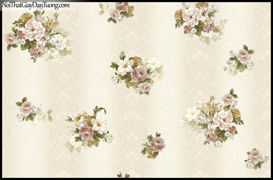 PLACE 3 (III), Giấy dán tường Hàn Quốc 2066-1, Giấy dán tường họa tiết hoa văn lấp lánh, màu sắc đơn giản mà đẹp