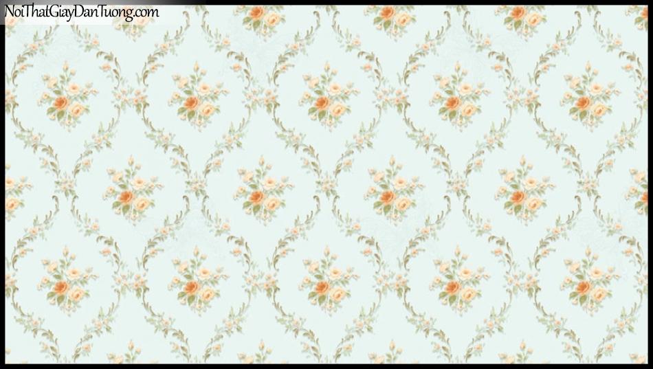 PLACE 3 (III), Giấy dán tường Hàn Quốc 2634-3, Giấy dán tường 3D họa tiết hoa văn, sang trọng, tinh tế, màu xanh