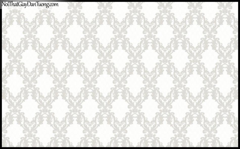 PLACE 3 (III), Giấy dán tường Hàn Quốc 2646-1, Giấy dán tường sọc nhỏ, hoa văn cổ điển, màu trắng sữa