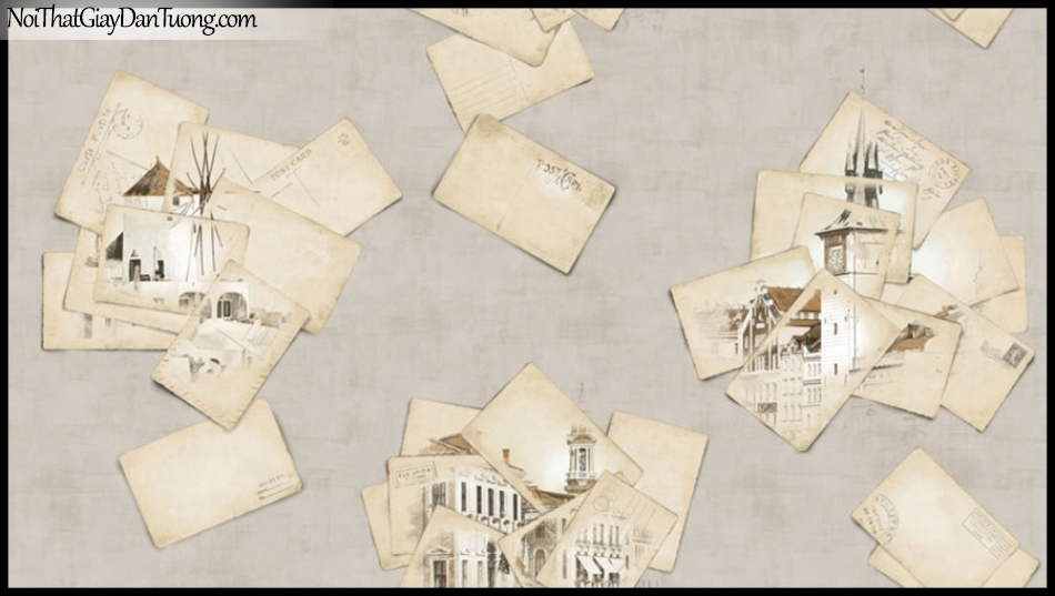PLACE 3 (III), Giấy dán tường Hàn Quốc 2651-2, Giấy dán tường 3D họa tiết hình ảnh