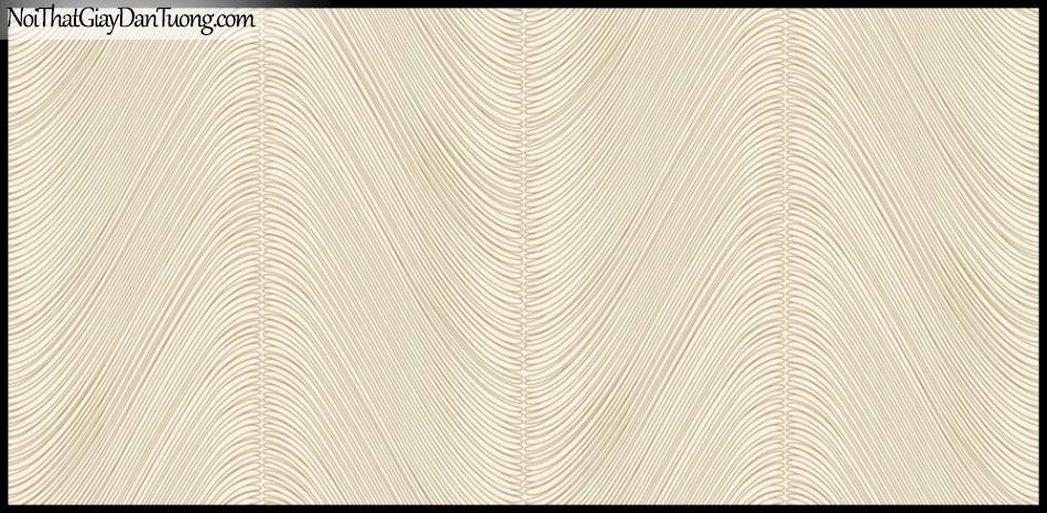 PLACE 3 (III), Giấy dán tường Hàn Quốc 2653-2, Giấy dán tường 3D họa tiết, vân kẻ, đường viền, màu vàng cát