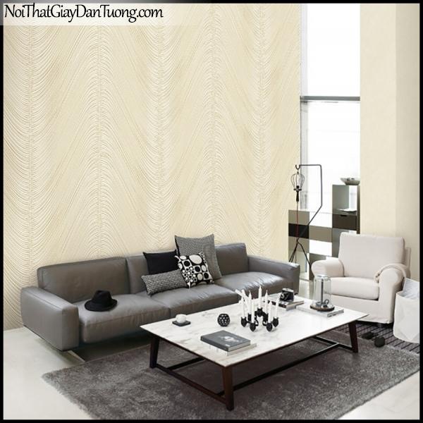 PLACE 3 (III), Giấy dán tường Hàn Quốc 2653-2,2652-2m PC, Giấy dán tường 3D họa tiết, vân kẻ, đường viền, màu vàng cát, phối cảnh