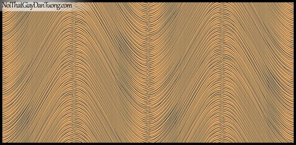 PLACE 3 (III), Giấy dán tường Hàn Quốc 2653-6, Giấy dán tường 3D họa tiết, vân kẻ, đường viền, màu cam