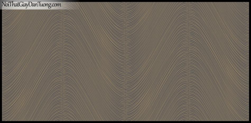 PLACE 3 (III), Giấy dán tường Hàn Quốc 2653-7, Giấy dán tường 3D họa tiết, vân kẻ, đường viền, màu nâu đất