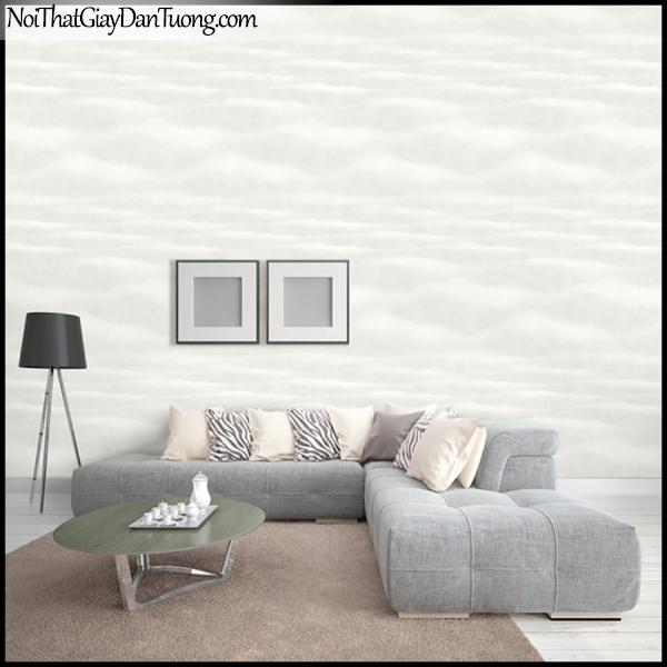 PLACE 3 (III), Giấy dán tường Hàn Quốc 2655-1m PC, Giấy dán tường 3D họa tiết, vân kẻ, hình đám mây, màu xám, phối cảnh