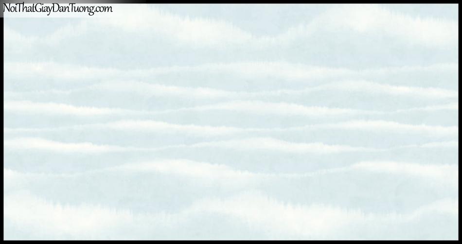 PLACE 3 (III), Giấy dán tường Hàn Quốc 2655-2, Giấy dán tường 3D họa tiết, vân kẻ, hình đám mây, màu xanh
