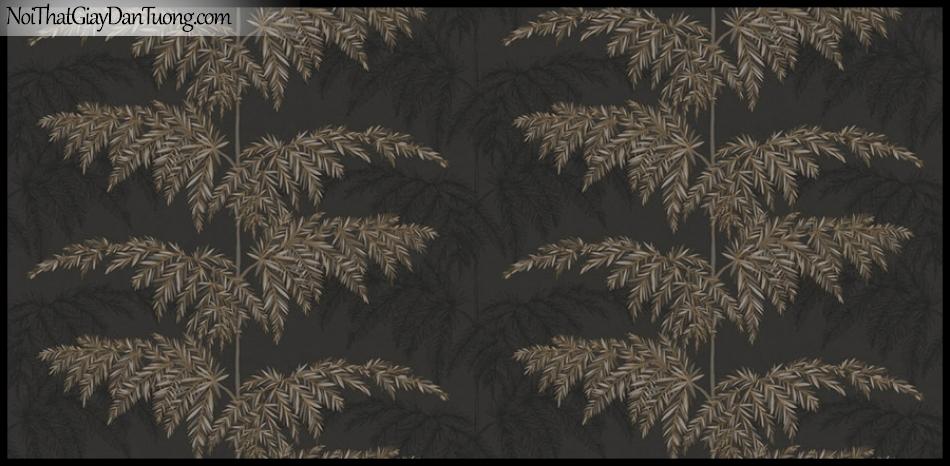 PLACE 3 (III), Giấy dán tường Hàn Quốc 2657-3, Giấy dán tường 3D họa tiết cây cối, màu nâu đen