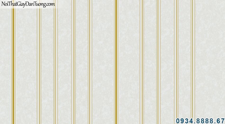 ALISHA, Giấy dán tường sọc vàng, sọc kem, giấy dán tường sọc xuôi 3904-4