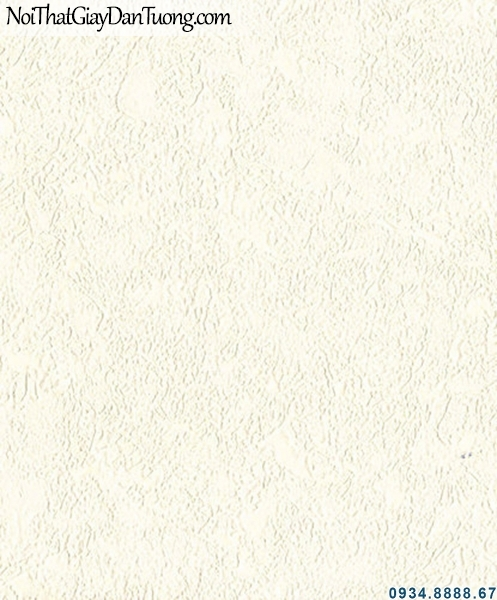 ALISHA, Giấy dán tường gân trơn màu kem, giấy có gân to một màu 3923-1