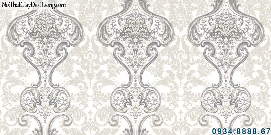 ALISHA, Giấy dán tường hoa văn cổ điển ấn tượng đẹp, hoa văn sắc sảo, điểm nhấn phòng khách 3924-1
