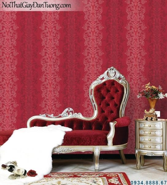 ALISHA, Giấy dán tường hoa văn màu đỏ, cung cấp và thi công giấy dán tường tphcm 3925-3