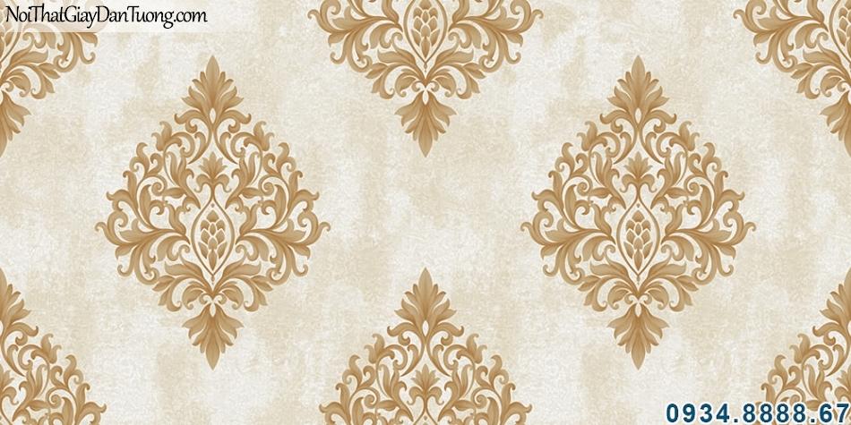 ALISHA, Giấy dán tường màu vàng, hoa văn cổ điển mang phong cách Châu Âu sang trọng 3921-3
