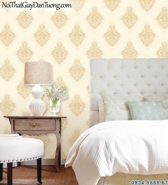 ALISHA, Giấy dán tường phối cảnh màu vàng, điểm nhấn giấy màu vàng, trang trí tường đẹp 3926-2