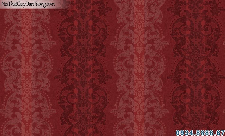 ALISHA, Giấy dán tường sọc hoa văn màu đỏ, giấy sọc, cố điển, nơi bán giấy dán tường uy tín ở Sài Gòn 3925-3