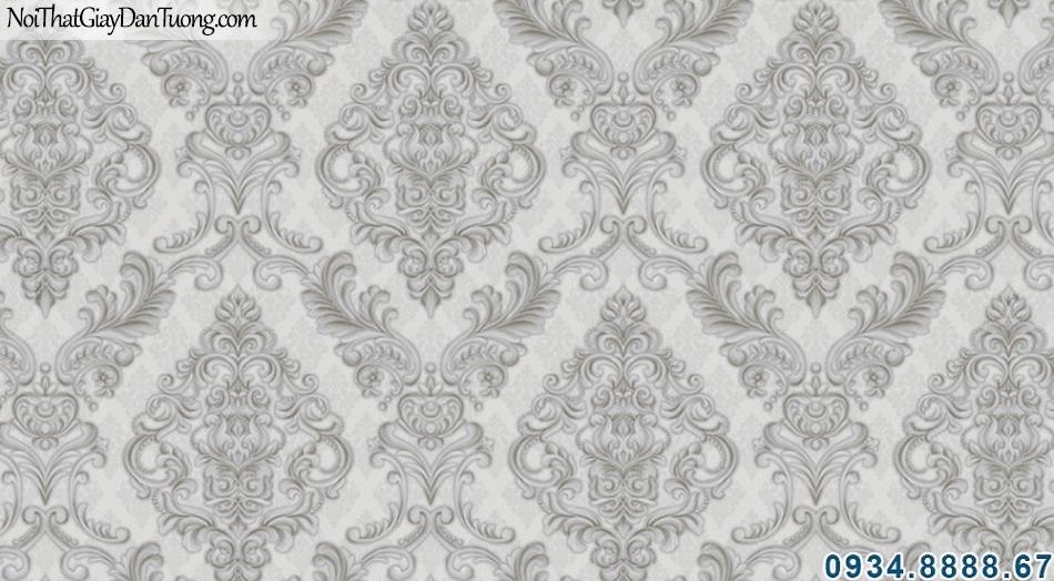 ALISHA, Giấy dán tường màu xám, màu xám đen, xám tối, mẫu giấy ấn tượng phù hợp cho điểm nhấn 3934-3