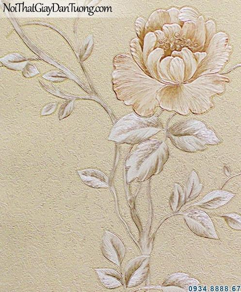 ALISHA, Giấy dán tường bông hoa leo, dây leo hoa hồng leo 3936-2, giấy dán tường phòng ngủ đẹp, lãng mạn