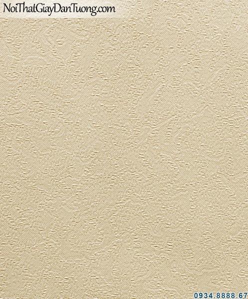 ALISHA, Giấy dán tường giấy dán tường màu kem trơn, giấy có gân 3937-2, giấy kem vàng
