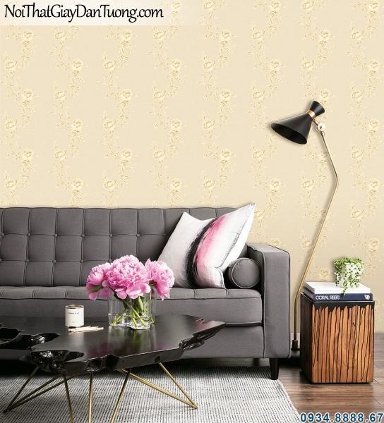 ALISHA, Phối cảnh giấy dán tường hoa leo tường đẹp, trang trí đẹp cho phòng ngủ