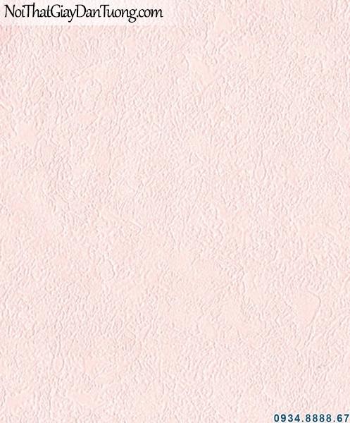 ALISHA, Giấy dán tường trơn gân màu hồng, hồng nhạt, giấy trơn đẹp 3942-2