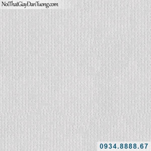 Giấy dán tường Hàn Quốc ARTBOOK, giấy dán tường chấm bi nhỏ màu xám, giấy gân trơn 57177-2