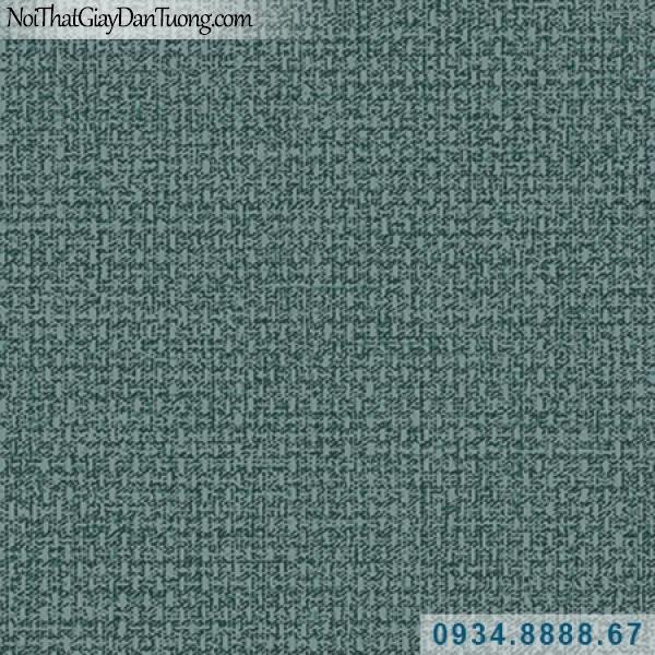 Giấy dán tường Hàn Quốc ARTBOOK, giấy dán tường họa tiết vải bố màu xanh ngọc, xanh lơ đậm 57185-9