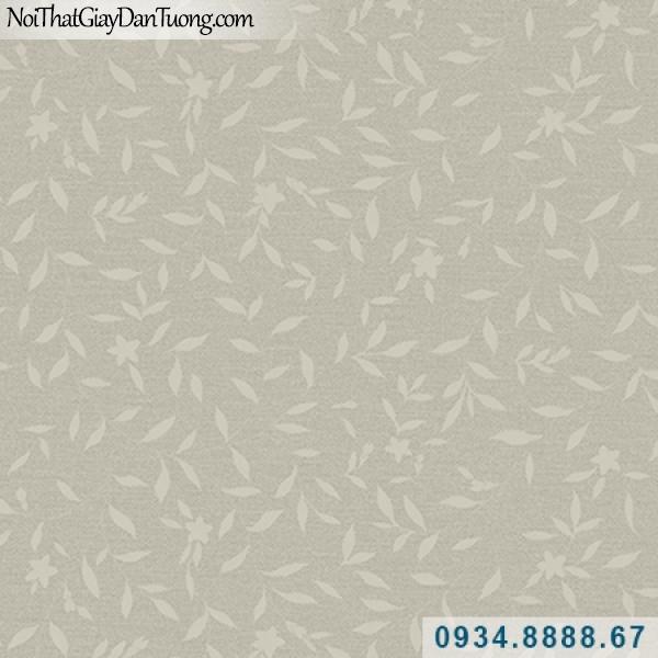 Giấy dán tường Hàn Quốc ARTBOOK, giấy dán tường lá cây, lá cây màu xám, lá cây rơi, những chiếc lá nhỏ 57181-1