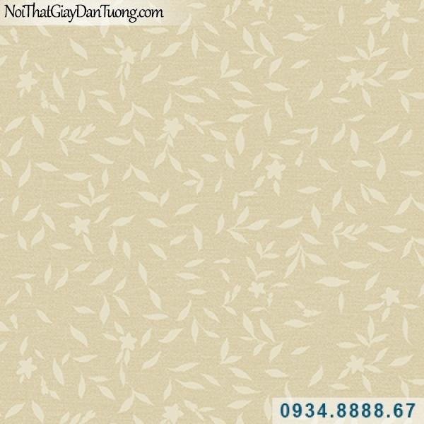 Giấy dán tường Hàn Quốc ARTBOOK, giấy dán tường lá cây màu vàng, nền màu vàng lá cây dây leo, hình lá cây nhỏ dây leo 57181-2