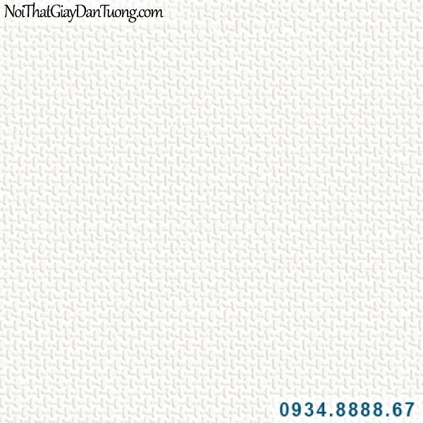 Giấy dán tường Hàn Quốc ARTBOOK, giấy dán tường màu trắng kem, giấy gân vải bố màu trắng 57185-1