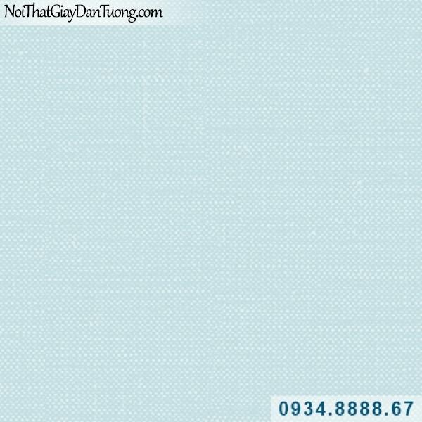 Giấy dán tường Hàn Quốc ARTBOOK, giấy dán tường màu xanh dương, xanh da trời, xanh nước biển, xanh nhạt, giấy gân trơn không có hoa văn họa tiết 57175-4