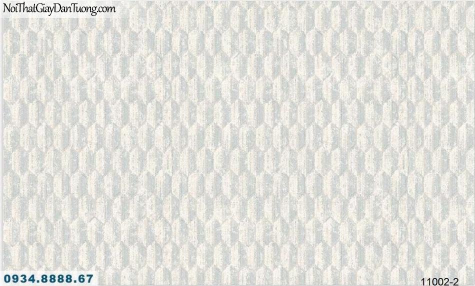 Giấy dán tường AQUAMAN, giấy dán tường hoa văn lục giác, họa tiết xếp hình hạt lúa, màu xám kem 11002-2