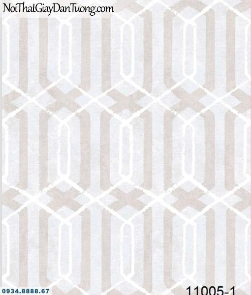 Giấy dán tường AQUAMAN, giấy dán tường họa tiết lục gác đan xen nhau 11005-1