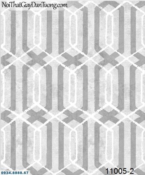 Giấy dán tường AQUAMAN, giấy dán tường hoa văn lục giác lòng vào nhau, hình lục giác màu xám nâu 11005-2
