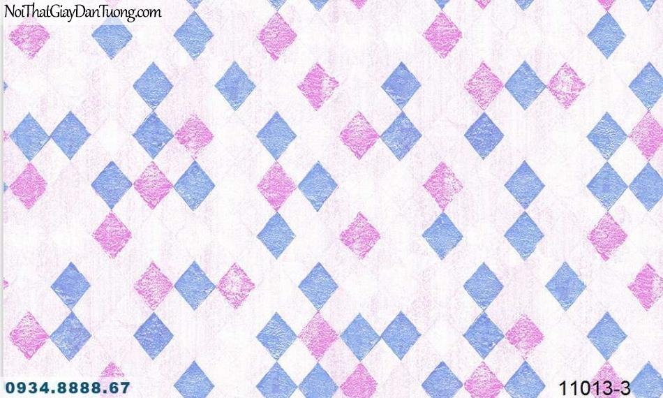 Giấy dán tường AQUAMAN, giấy dán tường ca rô màu hồng, ca rô màu tím 11013-3