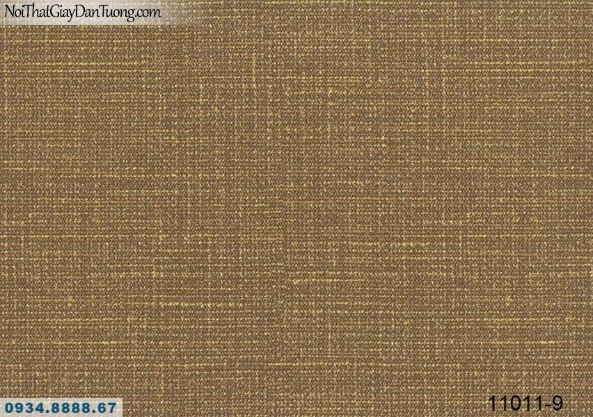 Giấy dán tường AQUAMAN, giấy dán tường gân, giấy trơn màu vàng cam, nâu đỏ 11011-9, thi công giấy dán tường Sala Đại Quang Minh, Quận 2