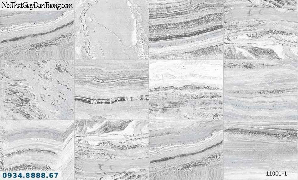 Giấy dán tường AQUAMAN, giấy dán tường giả đá, đá cắt ô vuông màu xám trắng 11001-1