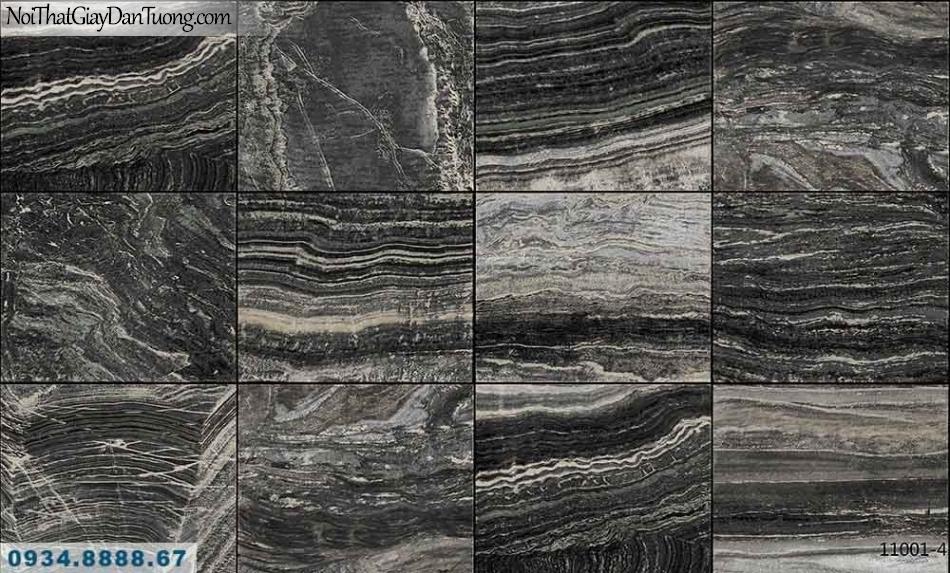 Giấy dán tường AQUAMAN, giấy dán tường giả đá màu đen, đá màu tối, đá hoa cương, đá tự nhiên cắt miếng 11001-4