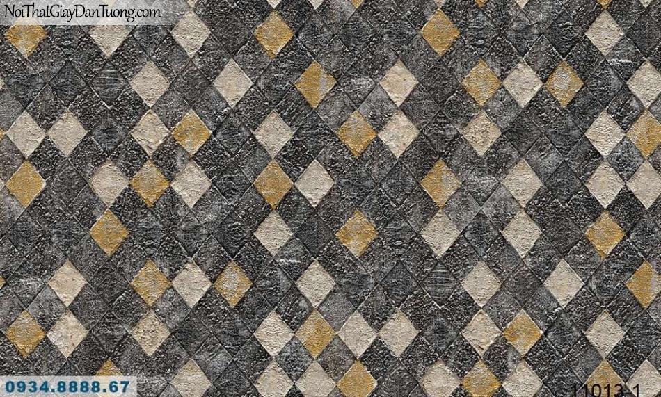Giấy dán tường AQUAMAN, giấy dán tường hình ca rô lớn nền đen điểm màu vàng 11013-1