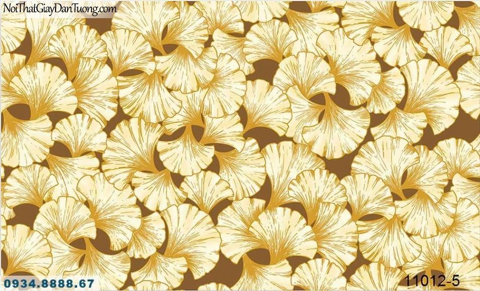 Giấy dán tường AQUAMAN, giấy dán tường hình lá cây bạch quả màu vàng, đặc trưng của Hàn Quốc 11012-5