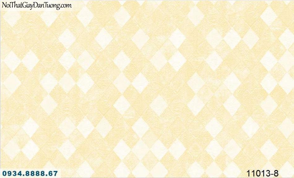 Giấy dán tường AQUAMAN, giấy dán tường họa tiết ca rô vàng kem 11013-8