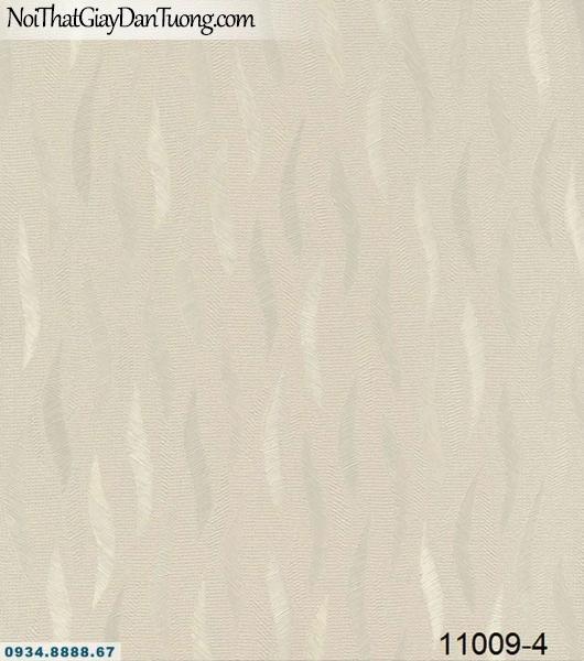 Giấy dán tường AQUAMAN, giấy dán tường họa tiết lá cây xoán, lượn sóng màu vàng đất 11009-4
