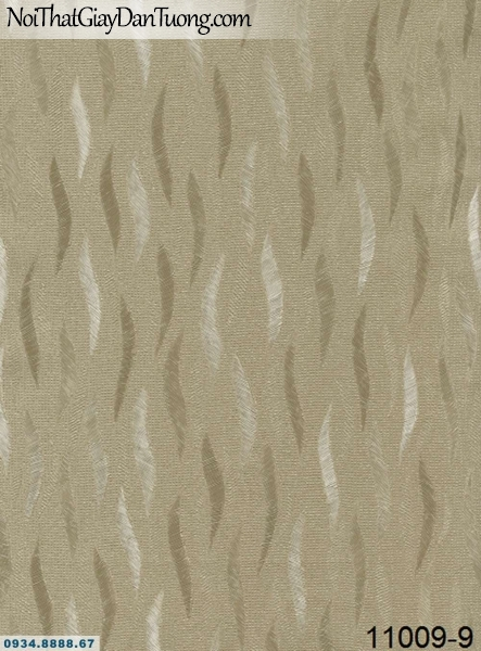 Giấy dán tường AQUAMAN, giấy dán tường họa tiết sóng lượn, hình lá cây rơi màu nâu đất 11009-9