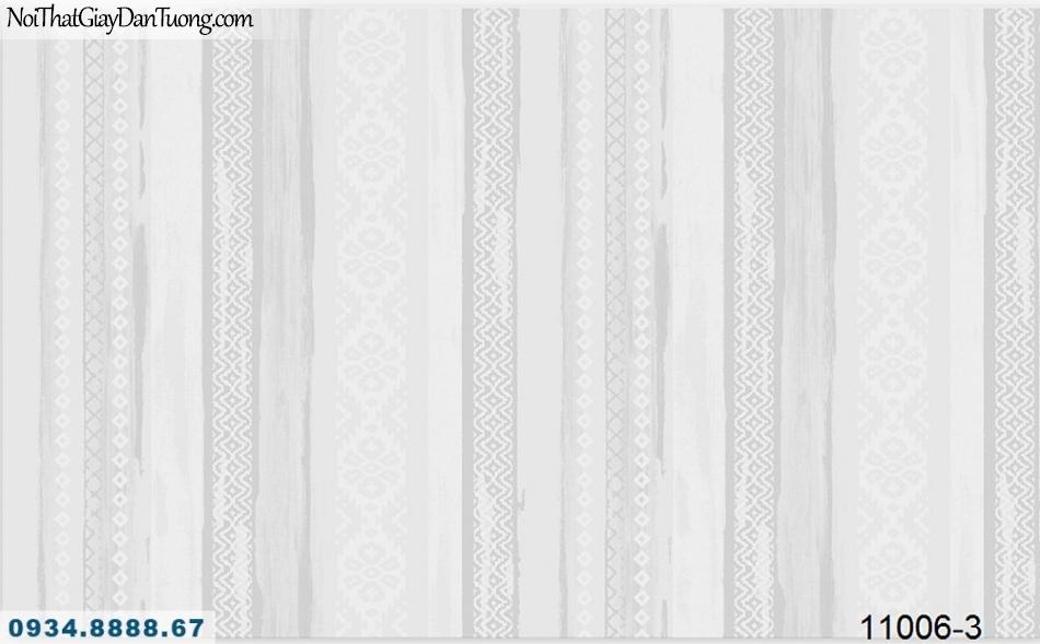 Giấy dán tường AQUAMAN, giấy dán tường hoa văn dạng sọc màu xám, họa tiết dân tộc, kiểu cố điển truyền thống 11006-3