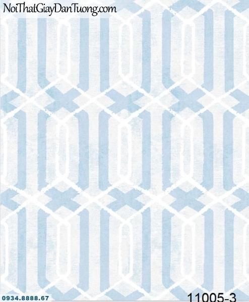 Giấy dán tường AQUAMAN, giấy dán tường hoa văn nền xám họa tiết xanh dương, xanh lơ, xanh da trời, xanh biển 11005-3