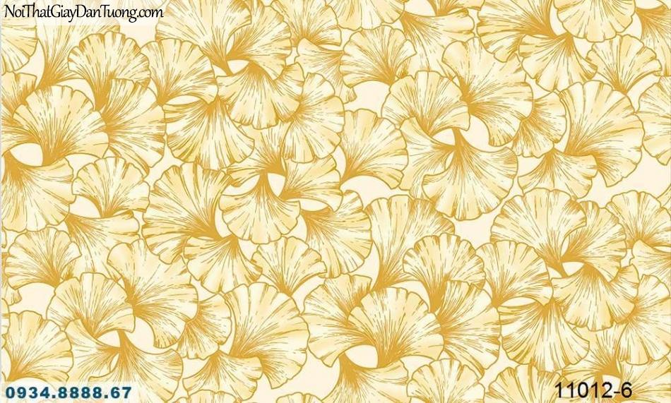 Giấy dán tường AQUAMAN, giấy dán tường lá cây, cây bạch quả Hàn Quốc, lá cây màu vàng 11012-6
