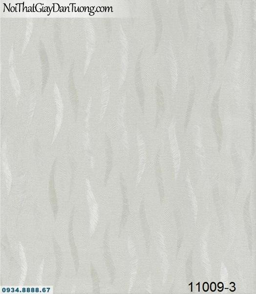 Giấy dán tường AQUAMAN, giấy dán tường màu xám vân nhẹ, hoa văn họa tiết hình chiếc lá rơi, lượn sóng 11009-3